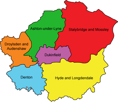 Map of District Assembly Areas